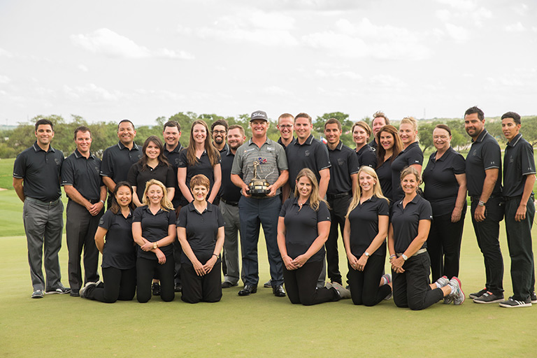 VTO Staff with 2016 Valero Texas Open Champion Charley Hoffman